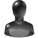 Human, user, metacontact, Black, offline, Account, profile, people DarkSlateGray icon