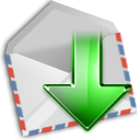 Get, envelop, Email, Letter, mail, Message LightGray icon