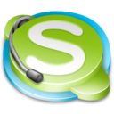 Messenger, Skype YellowGreen icon