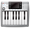 synth, Keyboard, Kcmmidi, music, midi, instrument DimGray icon