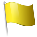 yellow, flag Black icon