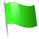 flag, green LimeGreen icon