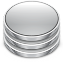 Database, db Silver icon