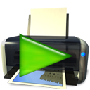 printer, play, Continue, Print, Filequickprint DarkSlateGray icon