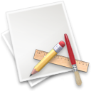document, Application, Edit, write, Draw, Pen, writing, pencil, paint, paper, Applix, File Gainsboro icon