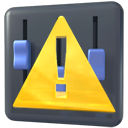 kmixdocked, warning, Error, wrong, Alert, exclamation DarkSlateGray icon