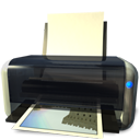Gnome, default, Print, printer DarkSlateGray icon