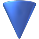 descending, download, Down, Descend, Decrease, fall SteelBlue icon