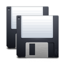 save, All, save all, Disk, disc DarkSlateGray icon