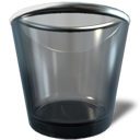 recycle bin, Trash DarkSlateGray icon