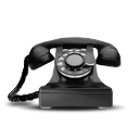 Dial, rotary, Tel, telephone, Modem, telecommunication, phone Black icon
