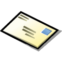 Message, envelop, mail, Email, Letter Black icon