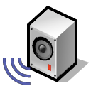 Server, sound, speaker, Loud, Audio, voice, music Black icon