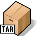 Tar, Archive Black icon