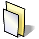 Folder, paper, document, File Black icon