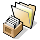 query, Folder Black icon