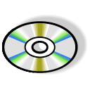 Disk, Cd, disc, save Black icon