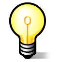 Light bulb, Idea, jabber Black icon