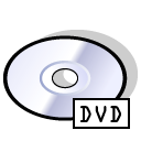Dvd, disc Black icon