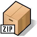 Archive, Zip Black icon