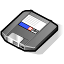 save, Zip, Disk, disc Black icon