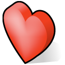 love, valentine, Heart Black icon