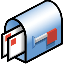 mail box Black icon