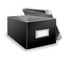 open, Box Black icon