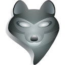 Firefox, Browser, grey DimGray icon