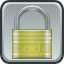 Lock, locked, security DarkGray icon