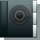 Folder, sound, voice DarkSlateGray icon