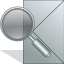 Message, search, seek, envelop, Letter, Email, mail, Find DarkGray icon