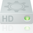 hard disk, mount, hard drive, Hdd LightGray icon