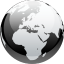 Browser, Black and white, earth, internet, globe, planet, world WhiteSmoke icon