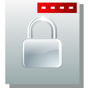 Lock, document, paper, File, locked, security DarkGray icon