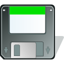 Floppy, mount, save DimGray icon