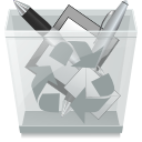 Full, trash can DarkGray icon