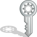 Key, password DarkSlateGray icon