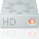 hard disk, unmount, Hdd, hard drive LightGray icon