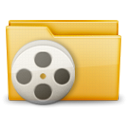 film, video, movie, Folder Black icon