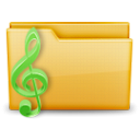 Folder, music Black icon