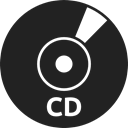 record, Cd, technology, Bluray, Dvd, Multimedia Black icon
