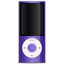 purple, Apple, ipod Black icon