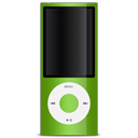 green, Apple, ipod Black icon