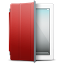 White, Cover, ipad, red Black icon