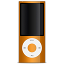 Orange, ipod, Apple Black icon