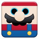 Cartoon, mario DarkSlateBlue icon
