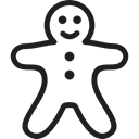 food, Dessert, cookie, sweets, Bakery, baker Black icon