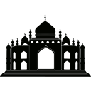 muslim, religious, islam, arabic, Architecture, islamic, Monuments Black icon