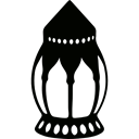 light, illumination, arabic, tool Black icon